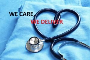 WE CARE WE DELIVER