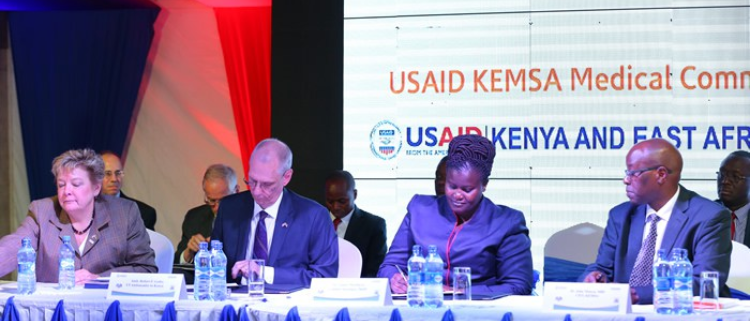 USAID, KEMSA SIGN Sh 65bn Medical Supplies Deal
